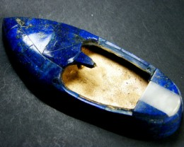 GAMBLERS LAPIS LUCKY SHOE CARVING 985 CARATS GWF 7