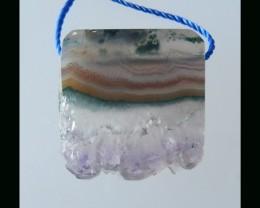 Speical Gemstone Bead Nugget Amethyst Beads - 22x23x6 MM