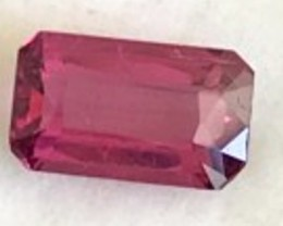 Gorgeous Emerald Cut Purple Red  Rubelite Tourmaline VVS TH84