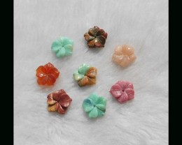 Gemstone Flower Carvings Parcel,16x4mm,10.23g