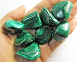 150 GRAMS TUMBLED  MALACHITE GEMSTONE  GG 1400