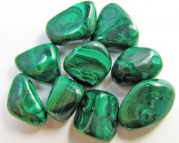 150 GRAMS TUMBLED  MALACHITE GEMSTONE  GG 1403