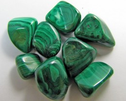 150 GRAMS TUMBLED  MALACHITE GEMSTONE  GG 1404