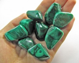 150 GRAMS TUMBLED  MALACHITE GEMSTONE  GG 1407