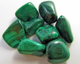 150 GRAMS TUMBLED  MALACHITE GEMSTONE  GG 1408
