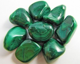 150 GRAMS TUMBLED  MALACHITE GEMSTONE  GG 1410