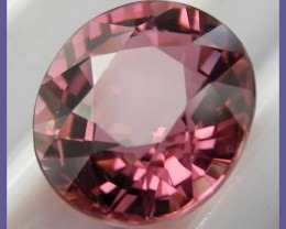 SUPERB AAA+ 1.43CT IMPERIAL  PINK OVAL TOURMALINE-STUNNING!