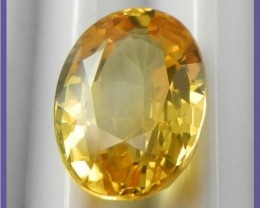 AAAA CERTIFIED.2.40CT CANARY YELLOW OVAL SAPPHIRE-FABULOUS!