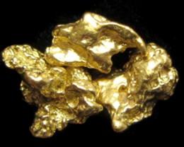 1.25 GRAMS   3  AUSTRALIAN  GOLD NUGGETS    LGN 1212