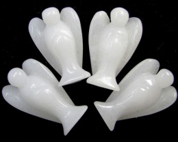 330 Cts parcel Four  White Jasper  Angels    GG 1429