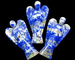 350-Cts parcel three  LargeLapis Lazuli  Angels    GG 1433
