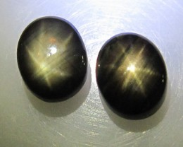 6.05cts Natural Star Sapphire Matching Oval Cabs, 2pcs