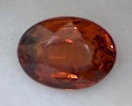 1.6ct Fiery Oangey-Red Oval Spessarite Garnet VVS TH158