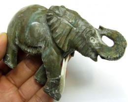 650 CTS SERPENTINE ELEPHANT  TRIBAL CARVING  MYGM 1470