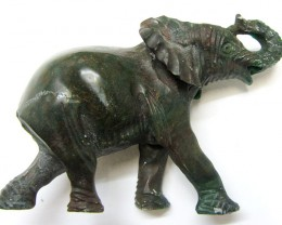 425 CTS SERPENTINE ELEPHANT  TRIBAL CARVING  MYGM 1476