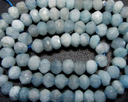 6 MM AQUAMARINE STAND BEADS  GG 1485