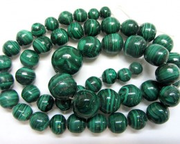 STRAND   MALACHITE GEMSTONE  BEADS  GG 1498