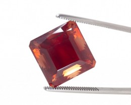 SALE WAS $19635 ~ 25.5ct Red Square Emerald Cut Sunstone (S150)