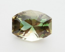 SALE WAS $4620 ~ 12ct. Oregon Sunstone, Green/Gold Barrel Cut, 12ct (S197)