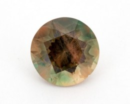 6.53ct Oregon Sunstone Green Dichroic Round (S339)