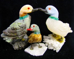 326 grams Parcel Three Duck carvings Peru  AGR 503