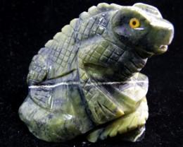 133 Grams  Iguana carving Peru MYGM 1544