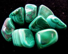 135 GRAMS  1 PIECES   CONGO  MALACHITE TUMBLED  MYGM 1610