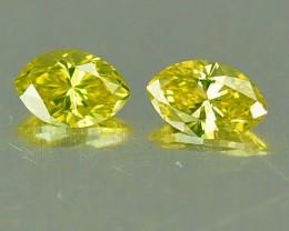 NATURAL YELLOW DIAMOND-3.50 x 1.90 MM,0.12 CTS, 2PCS, NR