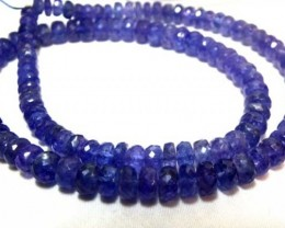 TANZANITE FACETED BEADS 148  CTS