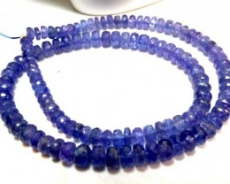 TANZANITE BEADS FACETED 146.60  CTS