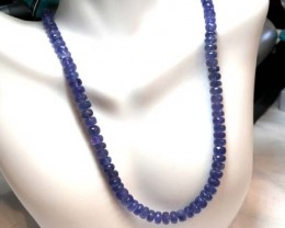 TANZANITE BEADS FACETED 148.70  CTS