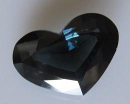 6.28cts Natural Australian Blue Sapphire Heart Cut