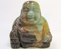660 CTS SIBERIAN  AMAZONITE BUDDAH AND PENDANT MYGM 1686