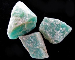 150 CTS SIBERIAN  AMAZONITE ROUGH  MYGM 1759