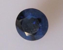 0.84cts Natural Australian Blue Sapphire Round Cut