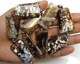 400 Cts Two Tone Strand Agate Beads   GG1663
