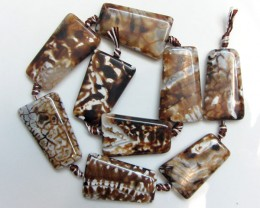 400 Cts Two Tone Strand Agate Beads   GG1665