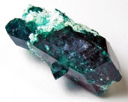 6.65 CTS RARE EMERALD GREEN DIOPTASE FROM KAZAKHSTAN MGW4054