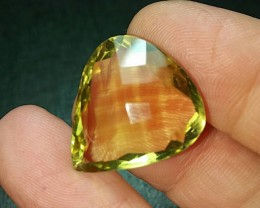 21ct 22mm Lemon Citrine also called Gold Green Citrine or Lemon Quartz 22 b