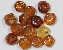 11 CTS AMBER 4 MM BEADS GG 1739