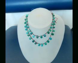 Vintage Teardrop Turquoise Necklace,9x6x3mm