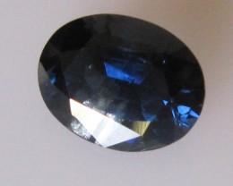 2.37cts Natural Australian Blue Sapphire Oval Cut