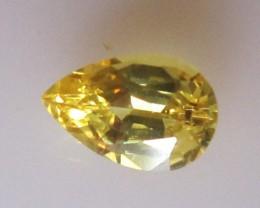 1.07cts Natural Australian Yellow Sapphire Pear Cut