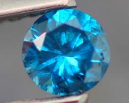 0.19Ct Spark Luster Natural VIVID BLUE Color Fancy Diamond