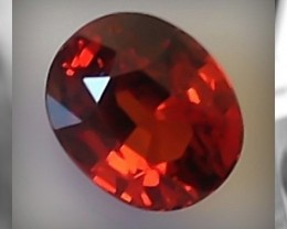 Certified 1.90cts VVS Flame Red Orange Spessatite ~ Namibia