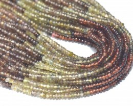 "Tunduru Garnet AAA smooth beads 2.5mm Color B 13"" GRT001"