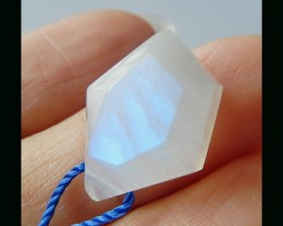 Faceted Trand 15Cts  Moonstone Gemstone Cabochon - 19x13x8 MM