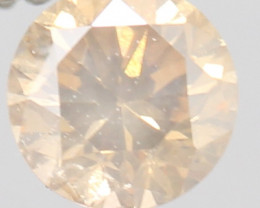 TOP RARE PEACH NATURAL DIAMOND 0.190Cts