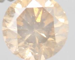 TOP RARE PEACH NATURAL DIAMOND 0.190Cts