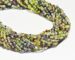 3.5mm Mixed gemstone beads 13 inch line